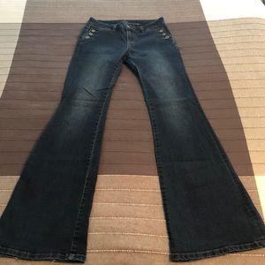 Dark Wash NYC 2 High Rise Flare Sailor Jeans Boho